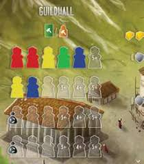 Architects of the west kingdom guildhall - Boxing meeples - board game review