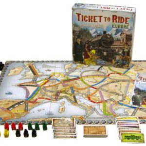 Ticket to ride Europe spelopstelling - Boxing meeples - board game shop